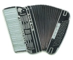 Accordion Pin - Black
