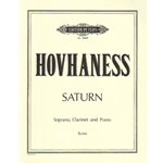 Saturn, Op. 243 - Soprano Voice, Clarinet, and Piano (Score)