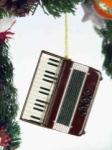Accordion Ornament - Brown