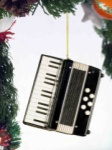 Accordion Ornament - Black