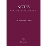 Notes: Musician's Choice (Burgundy) - Mini Manuscript Notebook