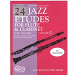 24 Jazz Etudes for Flute and Clarinet, Vol. 1 (Bk/CD)