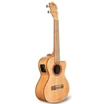Flame Maple Cutaway Electric Tenor Ukulele w/bag