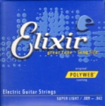 Elixir 12000 Super Light Polyweb Electric Guitar Strings