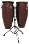 LP Aspire LPA646-DW 10 & 11 Conga Set with Stand (Dark Wood)