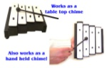 4 Note Tabletop or Handheld Dinner Chimes
