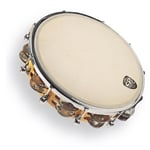 "CP391 10"" Tunable Tambourine, Wood"