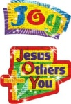 Jesus, Others, You Christian Sparkle Stickers