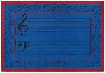 Fully Staffed Classroom Music Rug - 10 Ft 9 In x 13 Ft 2 In Blue