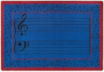 Fully Staffed Classroom Music Rug - 3 Ft 10 In x 5 Ft 4 In Blue
