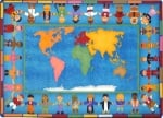 Hands Around the World Classroom Rug - 7 Ft 8 In x 10 Ft 9 In