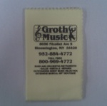 Groth Music Silver Polishing Cloth (Yellow)