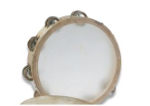 "First Note Budget Tambourine 8"" With Skin Head"
