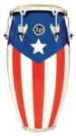 "LP Matador M752S-PR 11 3/4"" Wood Conga (Puerto Rico Flag/Chrome)"