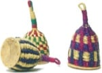 Woven Straw Caxixi Rattle from Ghana
