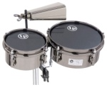 LP845JD John Dolmayan Mini Timbales with Cowbell & Mount Pack