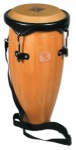 WB2040 World Beat Caribe Conga, Natural Wood/Black
