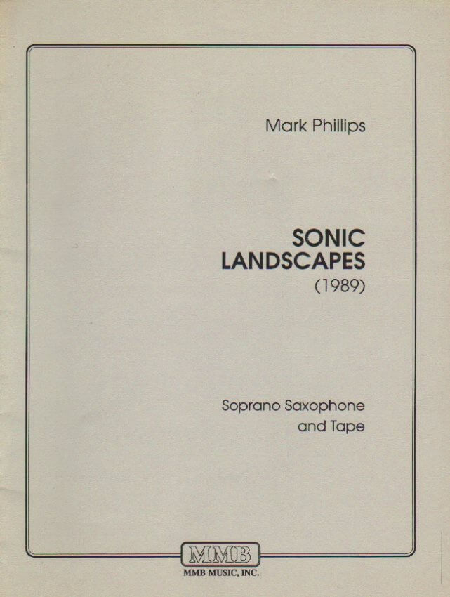 Sonic Landscapes - Soprano Sax and CD