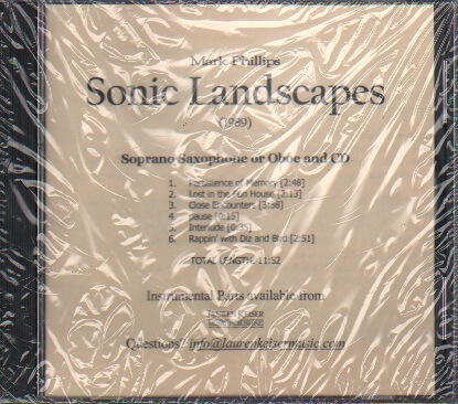 Sonic Landscapes (Accompaniment CD) - Oboe (or Soprano Sax) and CD