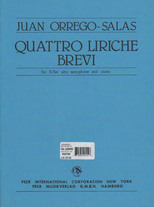 Quattro Lirichi Brevi - Alto Sax and Piano