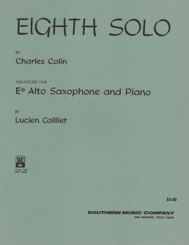 Eighth Solo, Op. 52 - Alto Sax and Piano