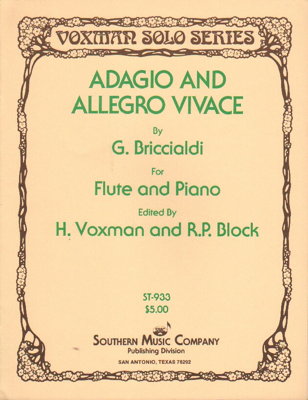 Adagio and Allegro Vivace - Flute and Piano