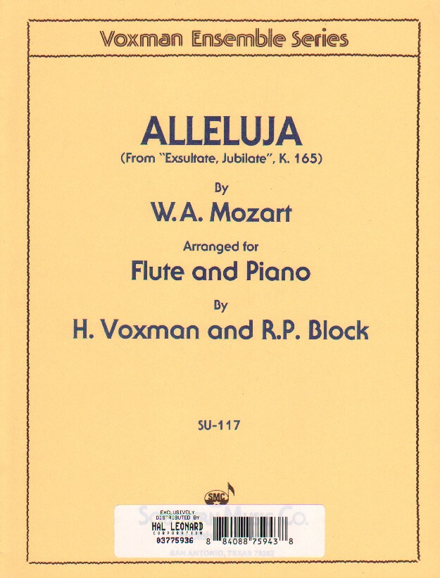 "Alleluja from ""Exsultate, Jubilate,"" K. 165 - Flute and Piano"