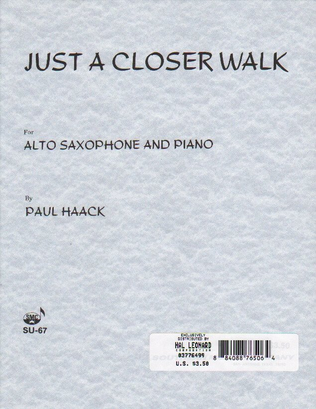 Just a Closer Walk - Alto Sax and Piano