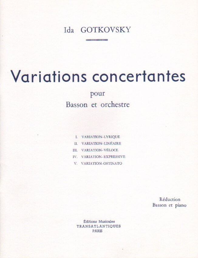Variations Concertant - Bassoon and Piano