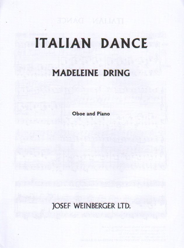 Italian Dance - Oboe and Piano