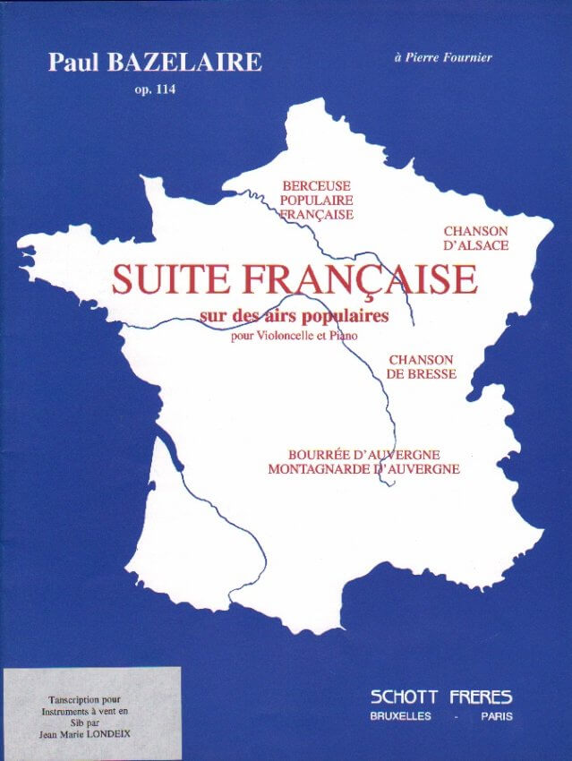 Suite Francaise, Op. 114 - Soprano/Tenor Sax (or Clarinet) and Piano