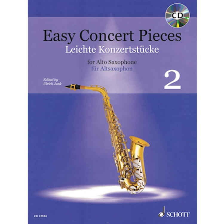 Easy Concert Pieces, Book 2 - Alto Sax and Piano (Book/CD)