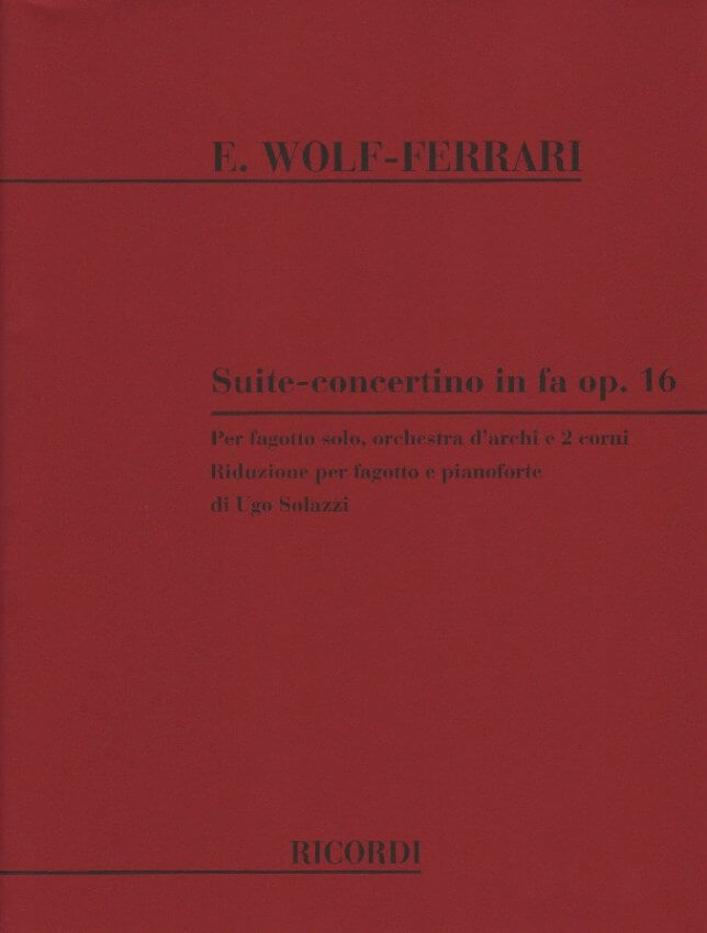 Suite-Concertino in F Major Op. 16 - Bassoon and Piano