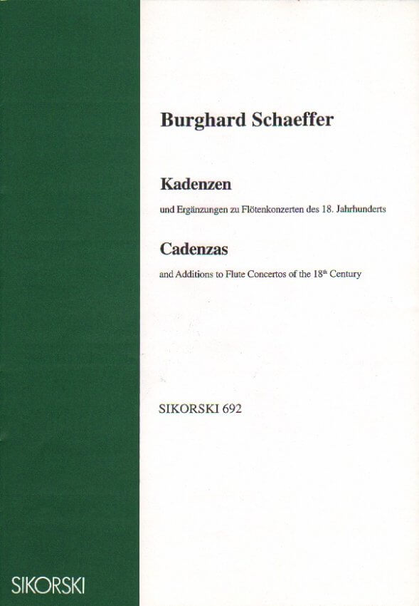Cadenzas and Additions to Flute Concertos of the 18th Century