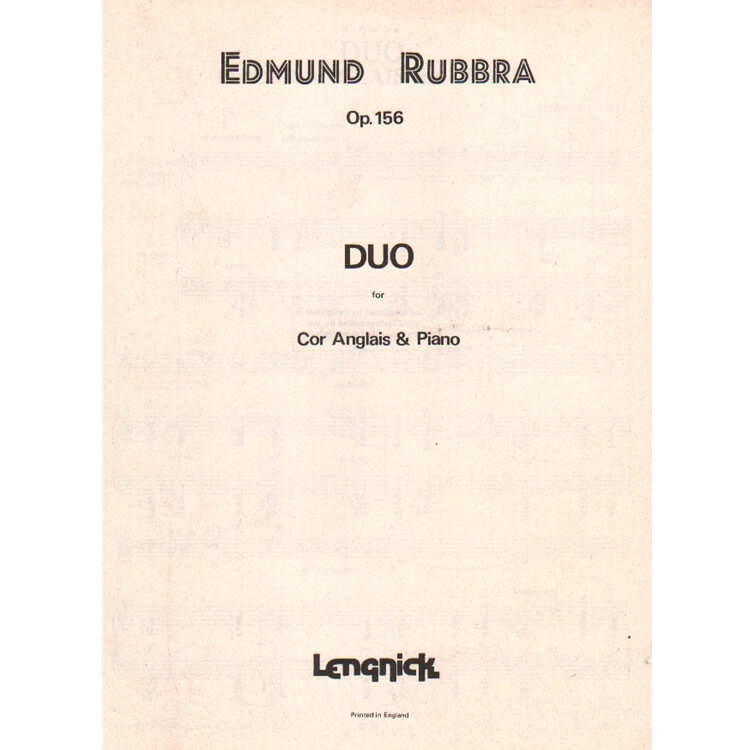 Duo Op. 156 - English Horn and Piano