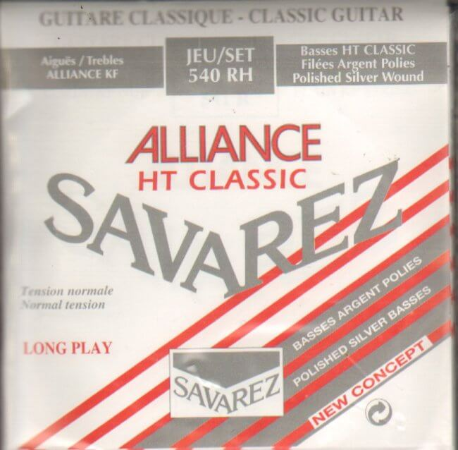 Alliance HT Classic Normal Tension Polished Silver Bass Classical Gtr. Strings