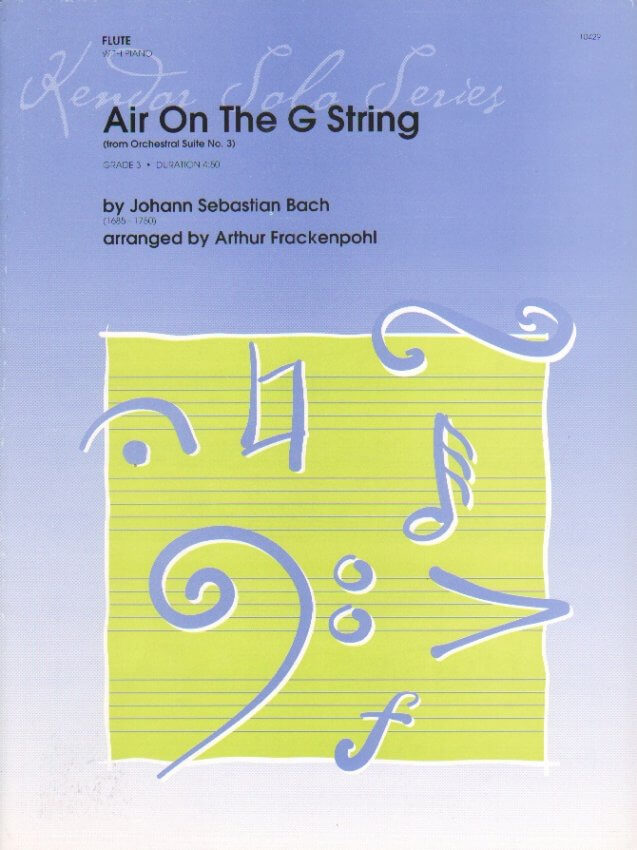 Air on the G String from Orchestral Suite No. 3 - Flute and Piano