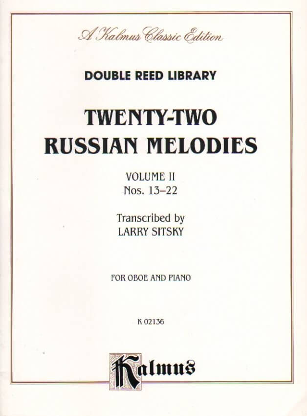 22 Russian Melodies Vol. 2 Nos. 13-22 - Oboe and Piano