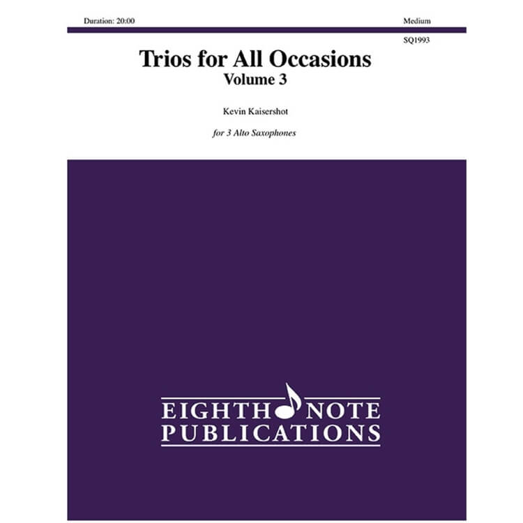 Trios for All Occasions Volume 3 - Saxophone
