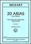 20 Arias, Vol. 1 - Baritone/Bass Voice and Piano