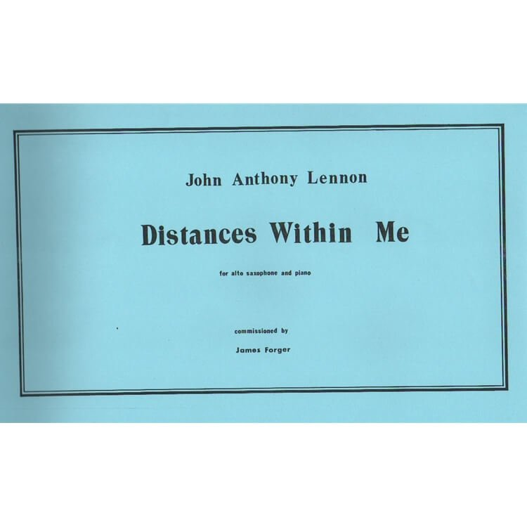 Distances Within Me - Alto Sax and Piano