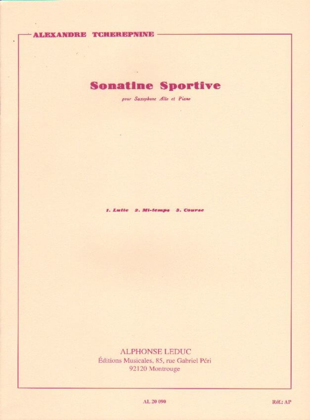 Sonatine Sportive - Alto Sax and Piano