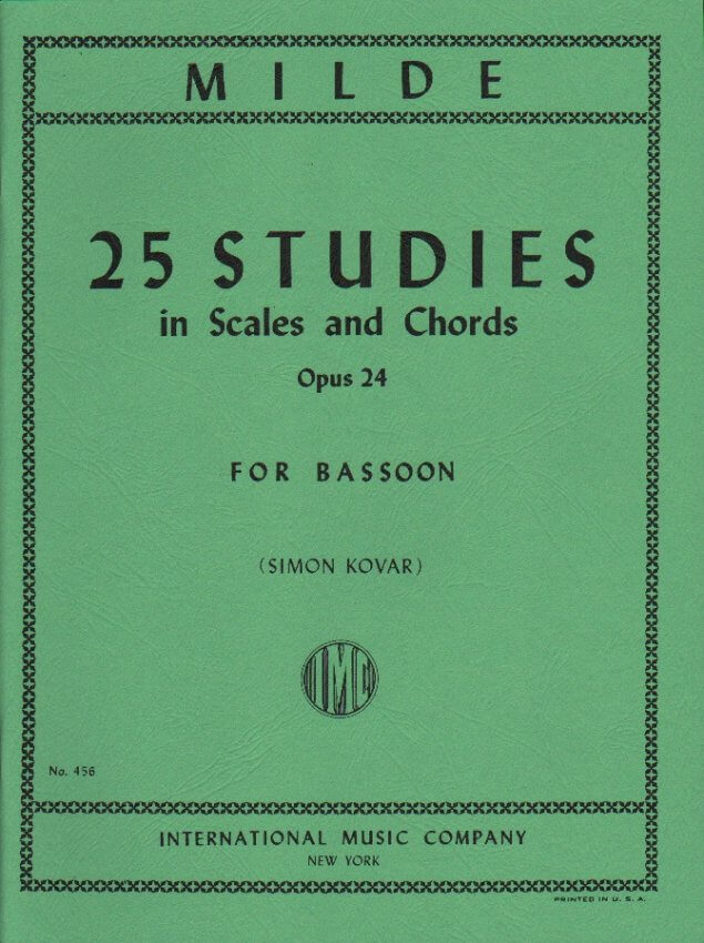 25 Studies in Scales and Chords Op. 24 - Bassoon