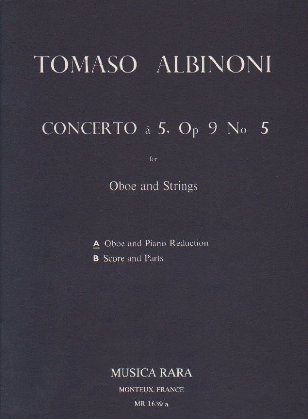 Concerto in C Major Op. 9 No. 5 - Oboe and Piano