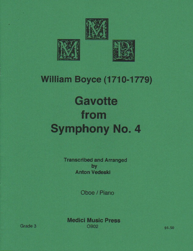 Gavotte from Symphony No. 4 - Oboe and Piano