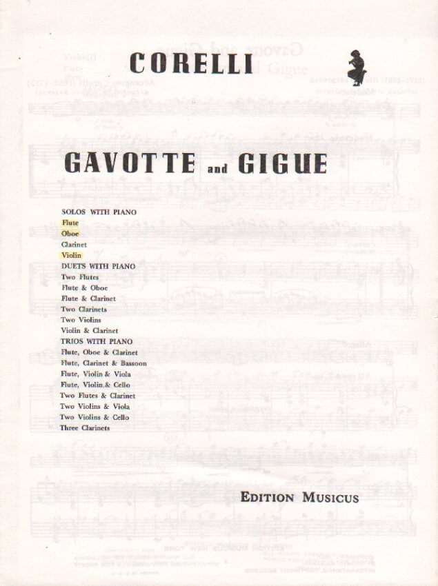 Gavotte and Gigue - Oboe (or Flute or Violin) and Piano