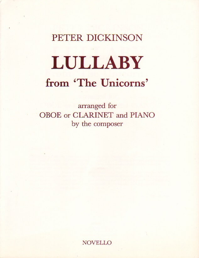 Lullaby from 'The Unicorns' - Oboe (or Clarinet) and Piano