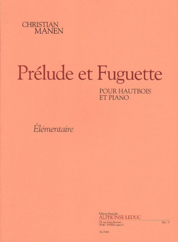 Prelude et Fuguette - Oboe and Piano