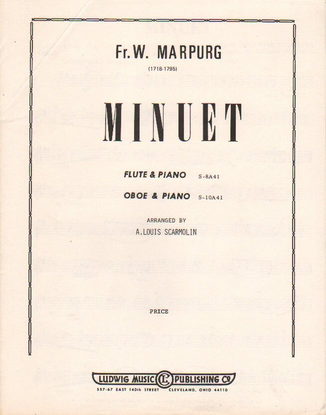 Minuet - Oboe (or Flute) and Piano