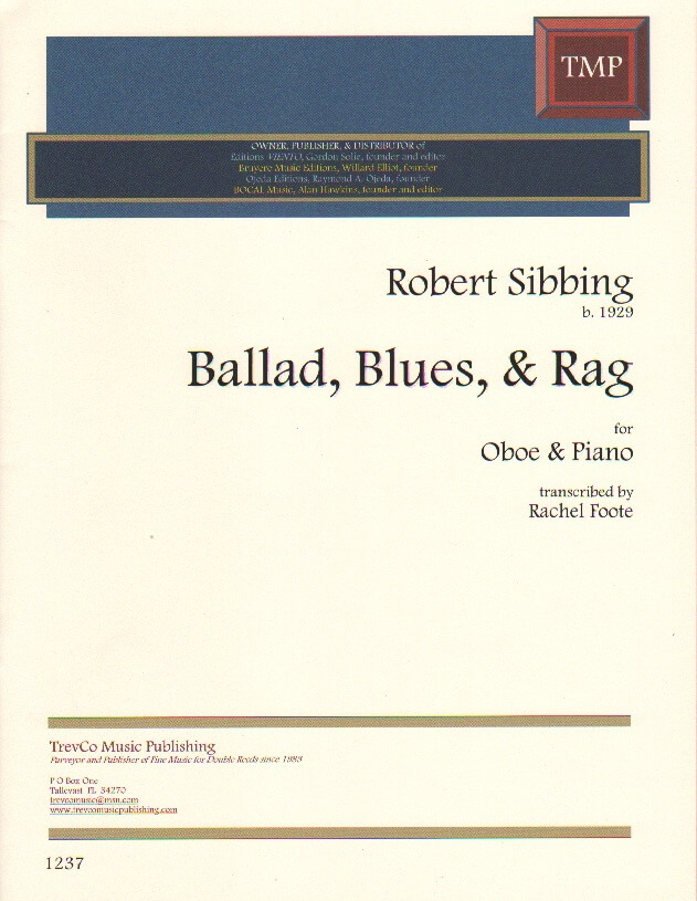 Ballad, Blues, and Rag - Oboe and Piano